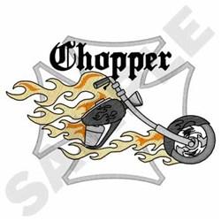 Chopper embroidery design