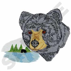 Black Bear embroidery design