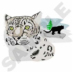 Snow Leopard embroidery design