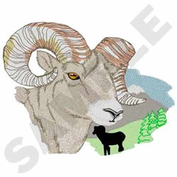 Bighorn Ram embroidery design