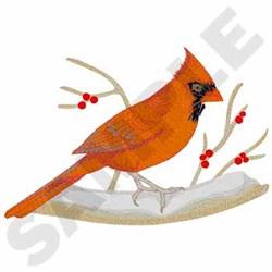 Cardinal embroidery design