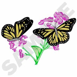 Monarch Butterflies embroidery design