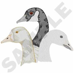 Geese Heads embroidery design
