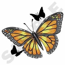 Monarchs embroidery design