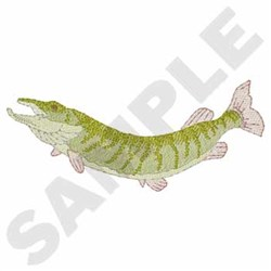 Muskie embroidery design