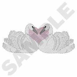 Swans embroidery design