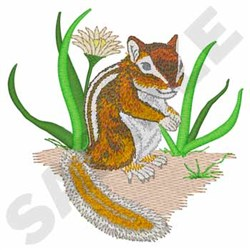 Chipmunk embroidery design