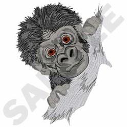 Baby Gorilla embroidery design