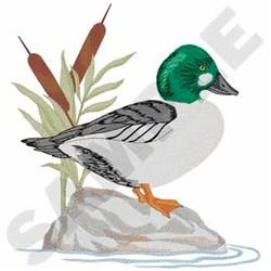 Golden Eye Duck embroidery design