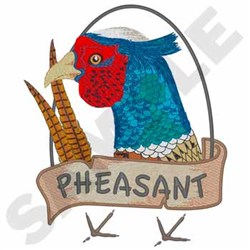 Pheasant embroidery design