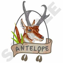 Antelope embroidery design