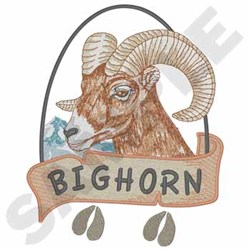 Bighorn Sheep embroidery design