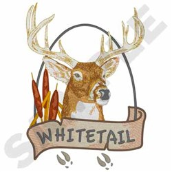 Whitetail Deer embroidery design