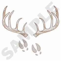 Antlers & Tracks embroidery design