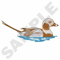Long Tail Duck embroidery design