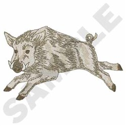 Wild Boar embroidery design