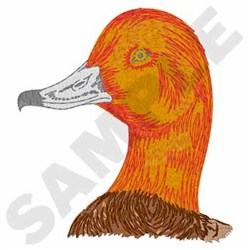 Redhead Duck Head embroidery design