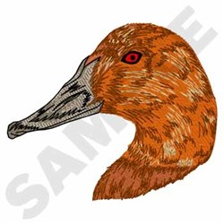 Canvasback embroidery design
