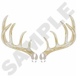 Whitetail Deer Antlers embroidery design