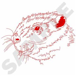 Beaver Redwork embroidery design