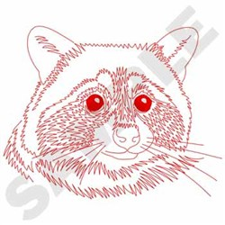 Raccoon Redwork embroidery design