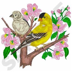 Goldfinches embroidery design