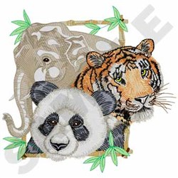 Asian Animals embroidery design