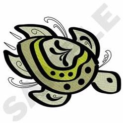 Turtle embroidery design