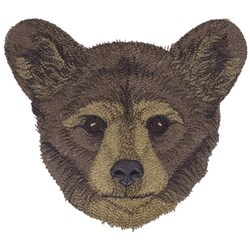 Black Bear Cub embroidery design