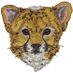 Cheetah Cub embroidery design