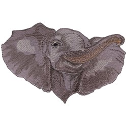 Baby Elephant Head embroidery design