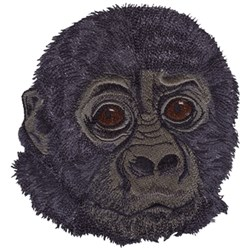 Gorilla Baby embroidery design
