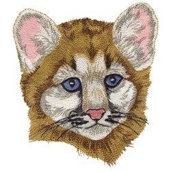 Baby Mountain Lion Head embroidery design