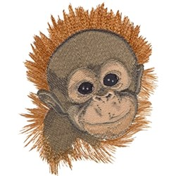 Orangutan embroidery design