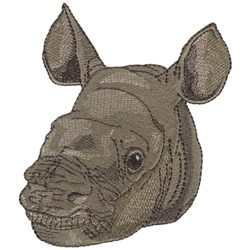 Baby Rhino embroidery design