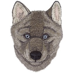 Baby Wolf embroidery design