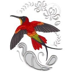 Crimson Topaz Hummingbird embroidery design