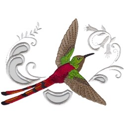 Red-tailed Comet embroidery design