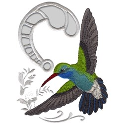 Broad Billed Hummingbird embroidery design