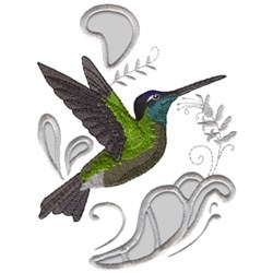 Magnificent Hummingbird embroidery design