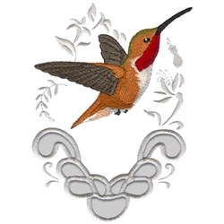 Allens Hummingbird embroidery design
