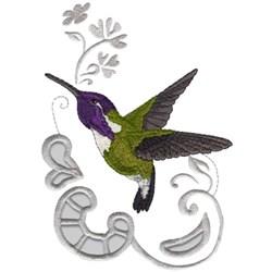 Costas Hummingbird embroidery design
