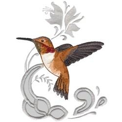 Rufous Hummingbird embroidery design
