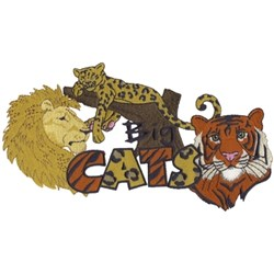 Big Cats embroidery design