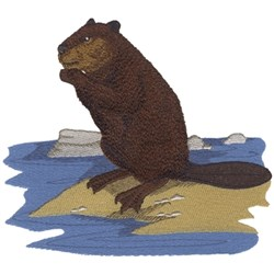 Beaver embroidery design