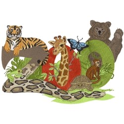 Zoo Animals embroidery design