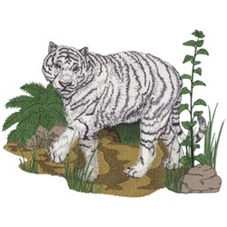 White Tiger Scene embroidery design