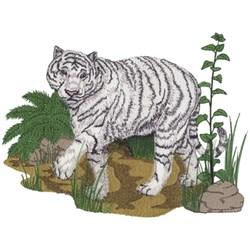 White Tiger Scene embroidery design