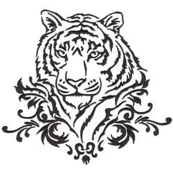 Damask Tiger embroidery design