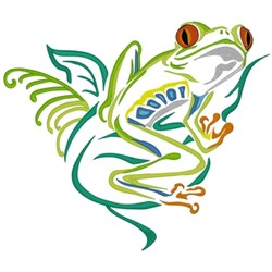 Tree Frog Outline embroidery design